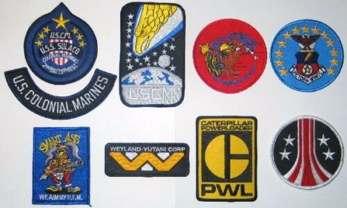 9 PREMIUM PATCHES ALIEN MOVIE Embroidered DELUXE Patch Set of