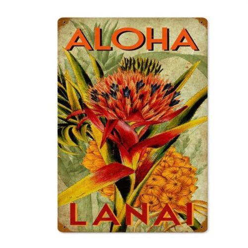 Vintage Aloha Ananas glacoide METAL SIGN METAL Poster metal decor wall sign