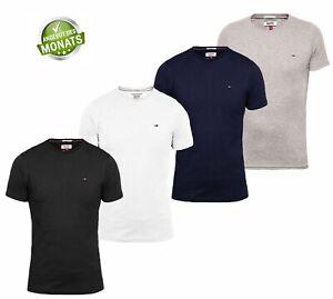 Tommy-Hilfiger-Herren-T-Shirt-Rundhals-Basic-Kurzarm-Shirts-S-M-L-XL-XXL