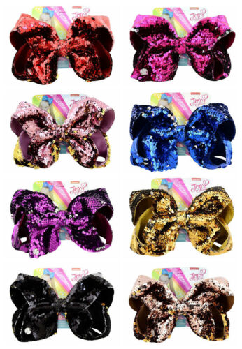 "JOJO 8/"" Girls Kids Mermaid Hair Bow With Alligator Clip Sequin Bowknot SIWA"