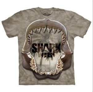 The-Mountain-Shark-Week-Reflect-Mono-Men-s-Tee-Shirt-S-M-L-XL-2X-3X-4X-5X-NWT