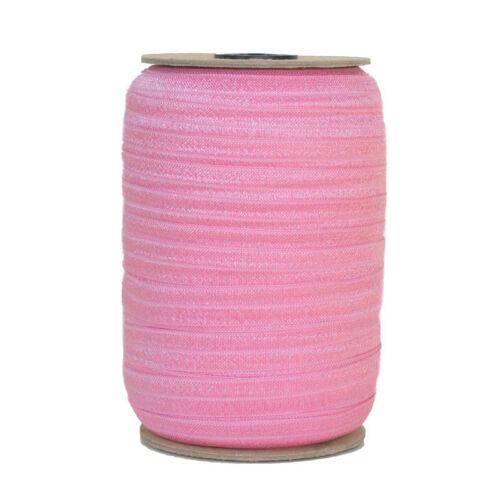 100 Yard Spool-Fold Over Elastic-Rose Blossom-5//8in Wide-FOE-Headband-Girl-Baby