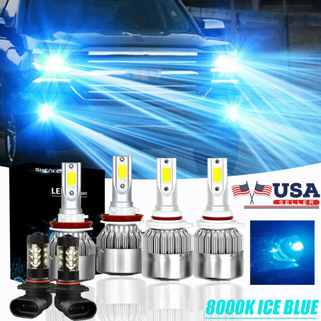 Combo 9007+9145 LED Headlight Fog Lights Kit Ice Blue For Ford F-150 1999-2008