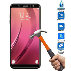 For Samsung Galaxy A6 A8 Plus Full Coverage Tempered Glass Screen Protector Film