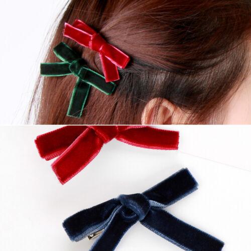 Women/'s Fashion Bowknot Hair Clips  Velvet Hairpins Hair Accessories
