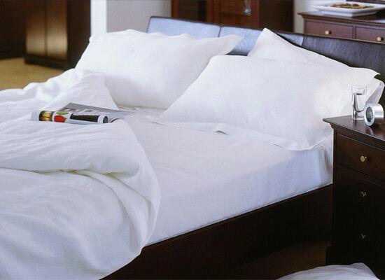 100% Organic Cotton Soft Bed Sheet Set - King Größe - Weiß