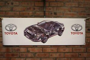 Toyota-Celica-gt4-st205-grosse-PVC-Arbeit-Shop-Banner-Garage-Show-Banner