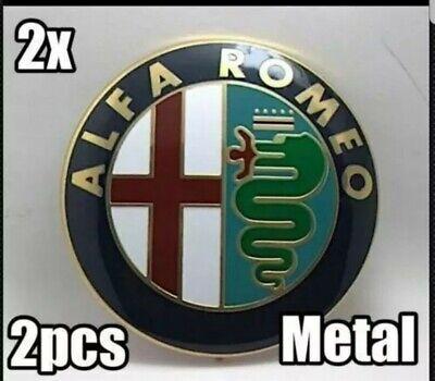 UK 2 Alfa Romeo Classic Emblem Badge 147 156 159 Brera Mito Giulietta Front Bac
