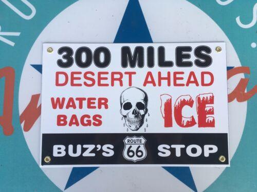 US ROUTE 66 /&  BUZ/'S 66 LAST STOP  porcelain coated 18 GAUGE steel signs