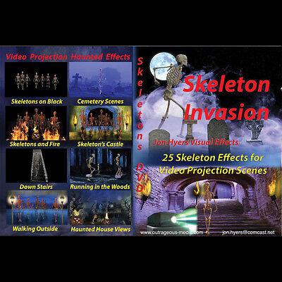 SKELETON INVASION DVD - Digital Halloween Decorations Video Projection