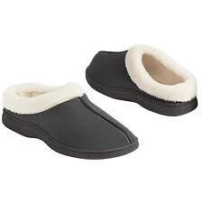 Dearfoams Men's Black Clog Slippers Multi-density Cushion Slip-resistant Large