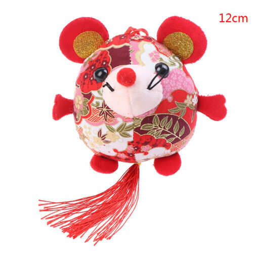 2020 Year Of The Fat Rat Mascot Plush Toy Red Chinese Knot Mouse Pendant  TPI