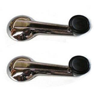New Chrome Door Handle Window Crank Handle Set of 4 for Triumph TR6 TR250