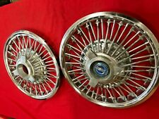 1965 66 67 Ford Mustang Fairlane 14 Wire Spinner Wheel Covers Hubcaps 2