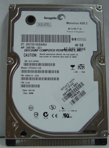 ST9402113A 6 Instock Tested Good 30 Day Warranty Seagate 40GB IDE 2.5 inch Drive