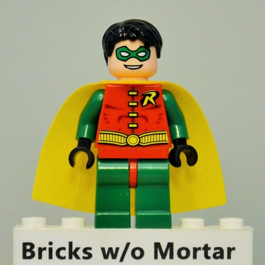 Nuovo Genuine LEGO Robin with Short Hair Minifig Super Heroes 7785