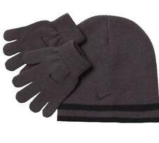 130ff9d2ab75ee item 4 Nike Boys Knit Hat   Gloves Set 8-20 Beanie REVERSIBLE Winter BLACK  GRAY Swoosh -Nike Boys Knit Hat   Gloves Set 8-20 Beanie REVERSIBLE Winter  BLACK ...