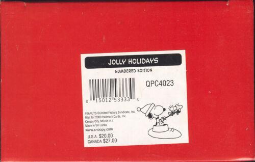 HALLMARK 2000 JOLLY HOLIDAYS FIGURE QPC4023 SNOOPY /& WOODSTOCK PEANUTS NIB
