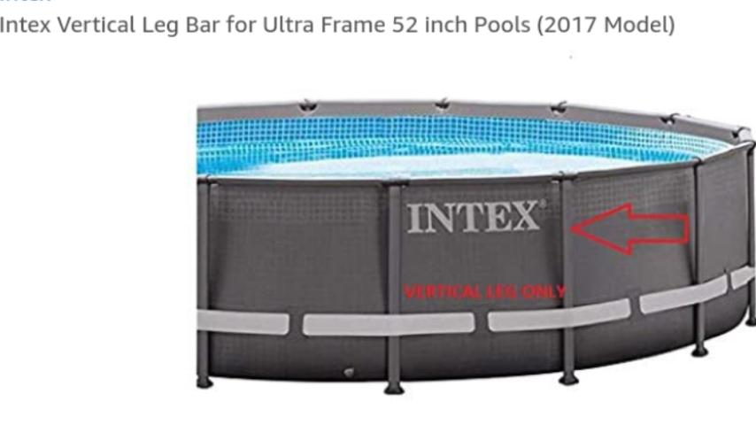 Summer Escapes  10/' Round Frame Pool Vertical Leg