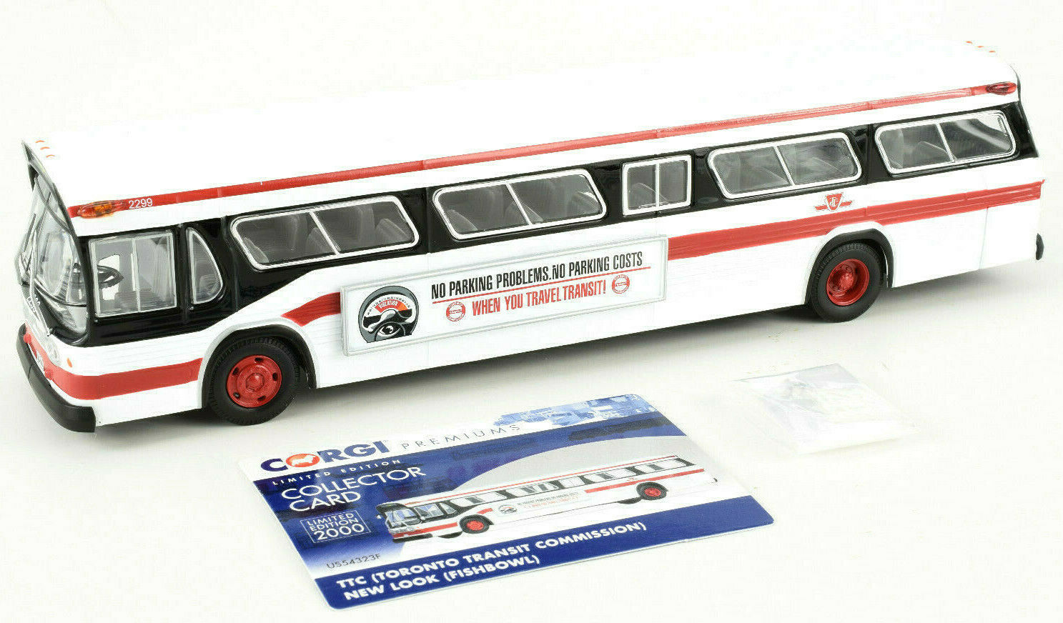 Corgi Tgoldnto Transit Commission New Look Fishbowl 1 50 Die-Cast Bus US54323F
