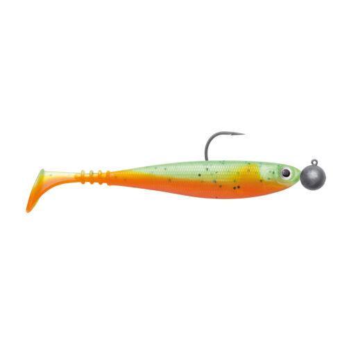 Green Orange Jackson Caoutchouc Poisson monté Zander Appât-zanderbait 10 cm 2st