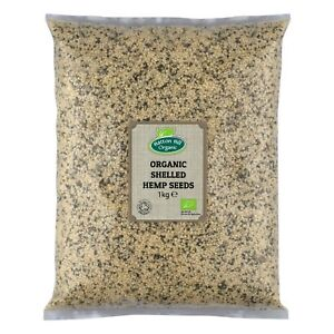 Organic écossés (coque) Graines De Chanvre 1 Kg Certified Organic-afficher Le Titre D'origine Couleurs Fantaisie