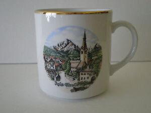 VINTAGE-IGLS-TIROL-AUSTRIA-GOLD-RIMMED-COFFEE-MUG-THEO-KUHN-BAREUTHER