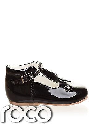 Baby Mädchen Schuhe, schwarz Blumenmädchen Schuhe, Taufschuhe, Kinderschuhe