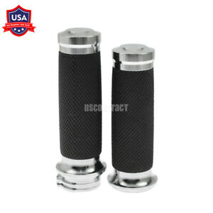 """1/"""" Chrome Handlebar Hand Grips Fit For Harley Touring Dyna Sportster XL883 1200"""