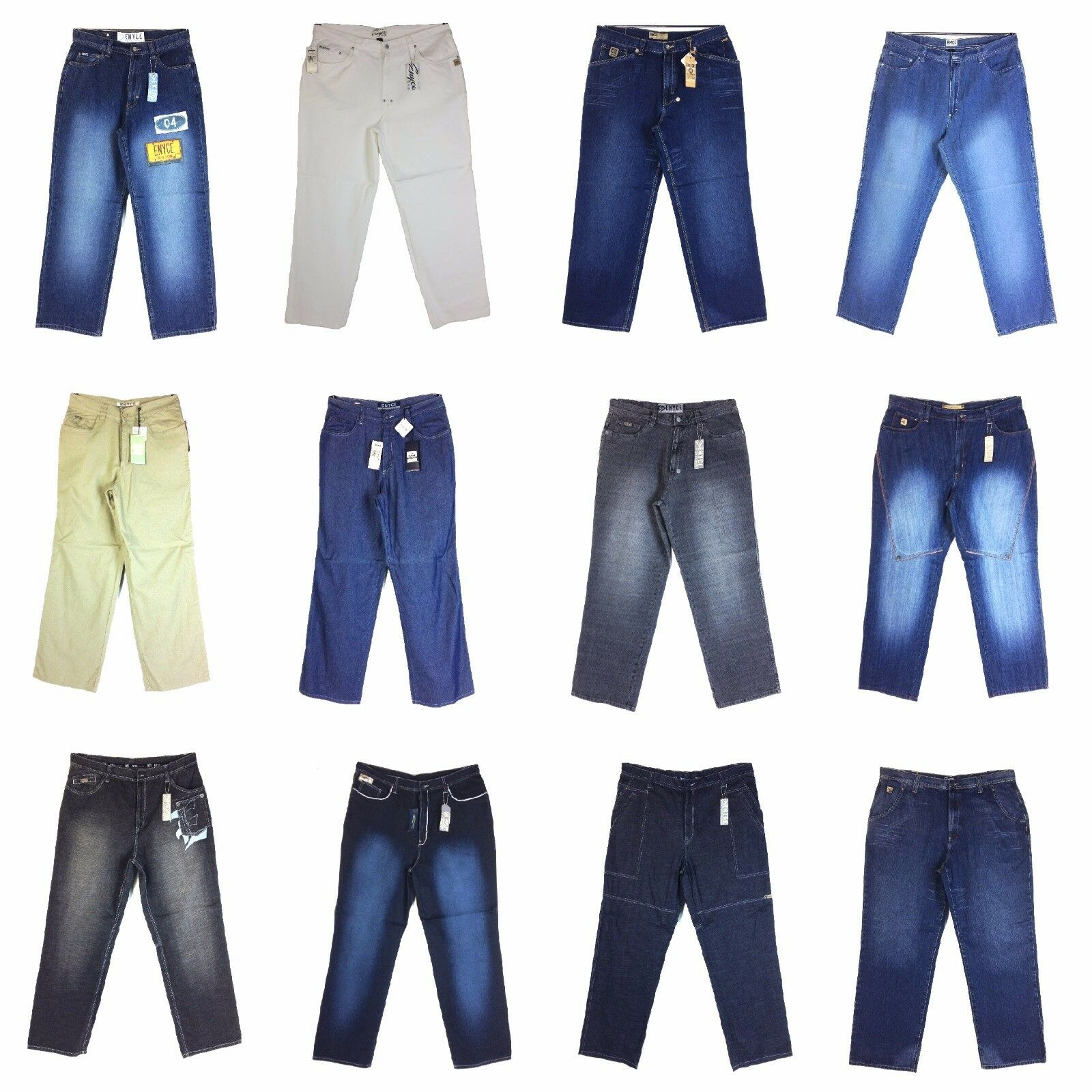 Vintage Enyce Design Men's New Jean, Old school Baggy Styles Assorted, Group [2]