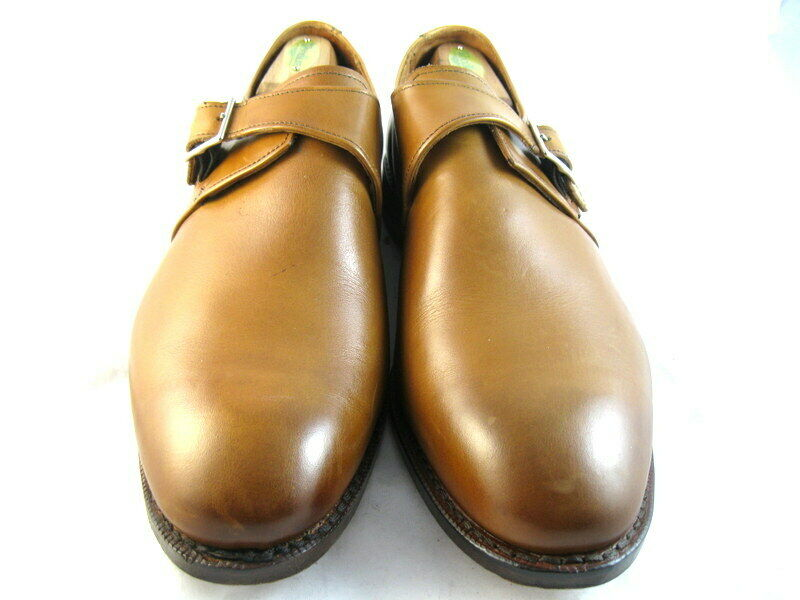Allen Edmonds  PLYMOUTH   Single Monk Strap 10.5 EEE Walnut  (224)