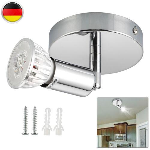 LED DECKEN-LAMPE SPOT STRAHLER GU10 DECKENLEUCHTE WOHNZIMMER FLURLAMPE NEU