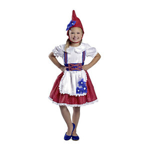 Details about Child Girl\u0027s Garden Gnome Gnomeo and Juliet Halloween Costume  Polka Dress Hat M