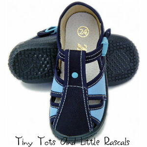 Boys-Toddlers-Canvas-Shoes-Sandals-Nursery-Slippers-Leather-Insole-Size-3-9