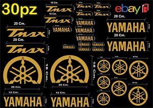 MAXI-KIT-30-PEZZI-SERIE-DI-ADESIVI-YAMAHA-TMAX-T-MAX-500-530-COLORE-ORO