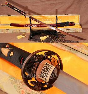 Damascus-Steel-Clay-Tempered-Japanese-Katana-Razor-Sharp-Battle-Samurai-Sword