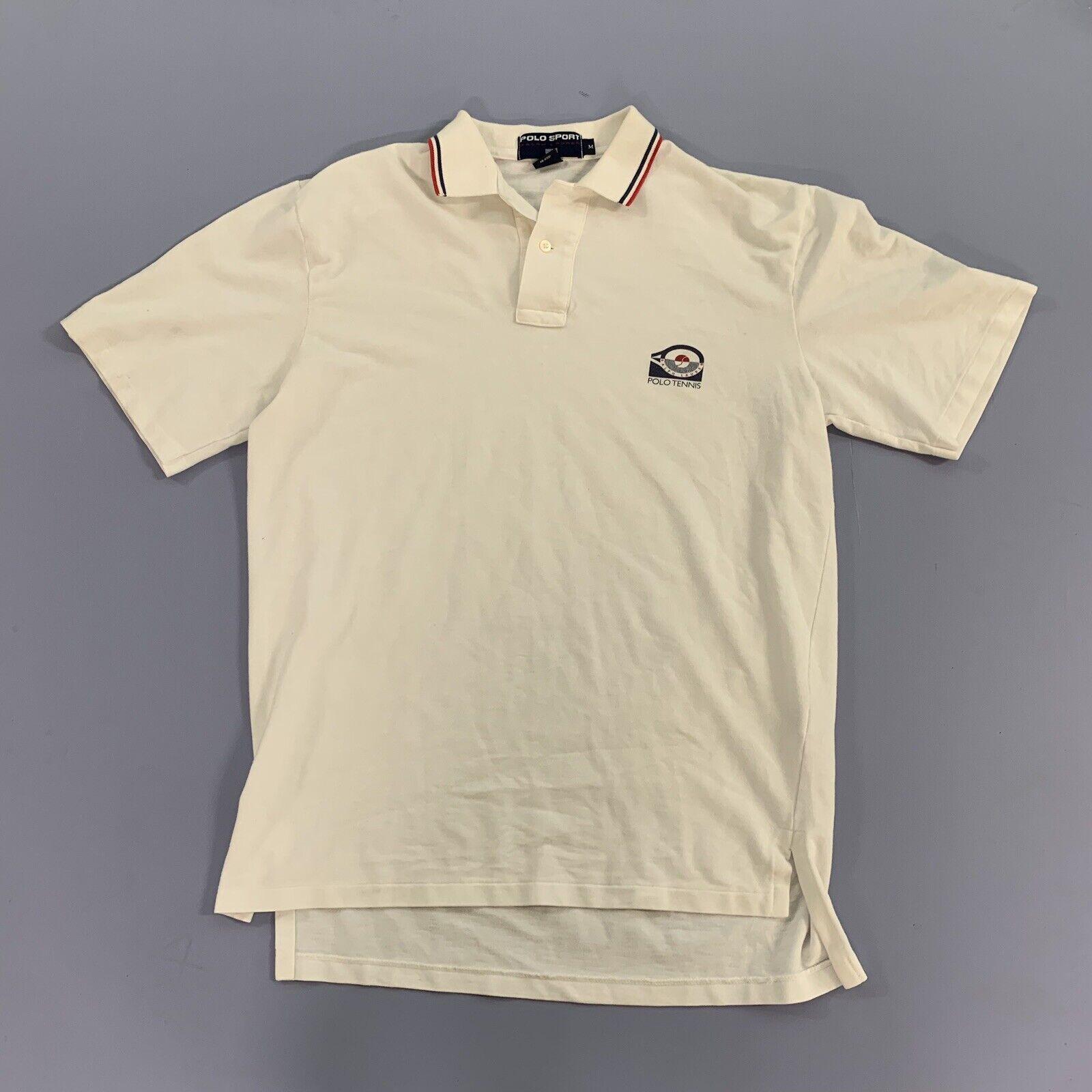 Vtg 80s 90s Polo Sport Tennis Shirt Single Stitch… - image 2