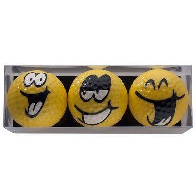 """Geschenk: 3 Golfbälle in der Box """" BIG SMILE"""" *NEU*"""