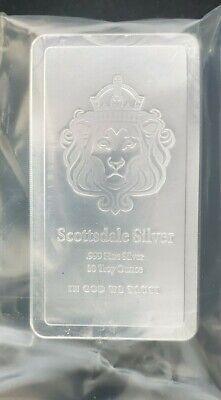 100 Gram Cast .999 Fine Silver Scottsdale Mint bar New in 4mm plastic bag!