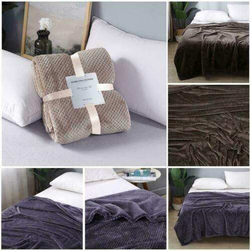 Weighted Soft Blanket Full Queen Size Reduce Stress Promote Sleep Deep Best J1O4