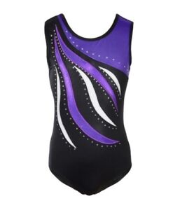Diamante-Gymnastics-Leotards-Gym-Dance-Costume-Rhinestone-Body-Suit-5-6-Years-Uk