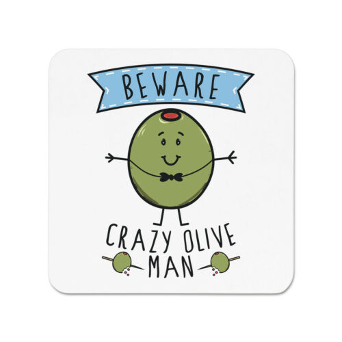 Méfiez-vous fou Olive Homme Aimant de Réfrigérateur Drôle Vegan Végétarien