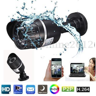 Waterproof 720P HD IP Camera CCTV Network In/Outdoor Security IR Cut Onvif P2P