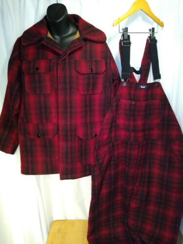 Rare 40's-50's Woolrich Flannel Hunting Coat Overa