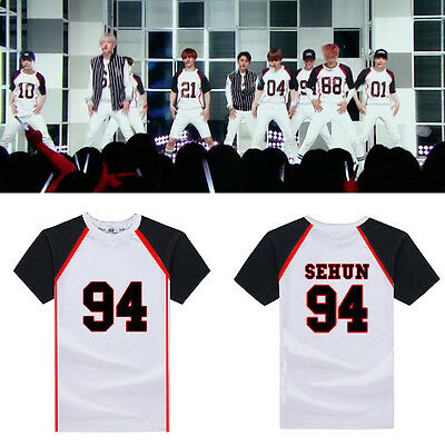 EXO LOVE ME RIGHT CHANYEOL SEHUN KAI LAY TAO KRIS XIUMIN LUHAN T-SHIRT KPOP NEW