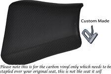 CARBON FIBRE VINYL CUSTOM FITS TRIUMPH 01-05 SPEED TRIPLE 955 i FRONT SEAT COVER