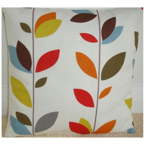 "24/"" Housse de coussin tige feuilles orange moutarde rouge bleu vert marron feuilles grande"
