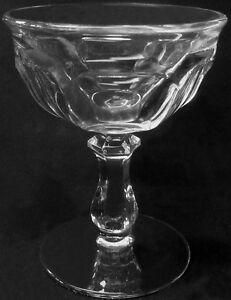 "Imperial Crystal Old Williamsburg Dark Blue Champagne Sherbet Stem 4 3//4/"" x 4/"""