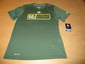 Discount Green Bay Packers # 52 Clay Matthews NFL Men's Nike DRI FIT T Shirt  supplier