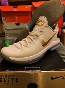 Nike KD V (5) Elite Series White Gold Kevin Durant PLAYOFFS INCLUDES ... b3755ef74